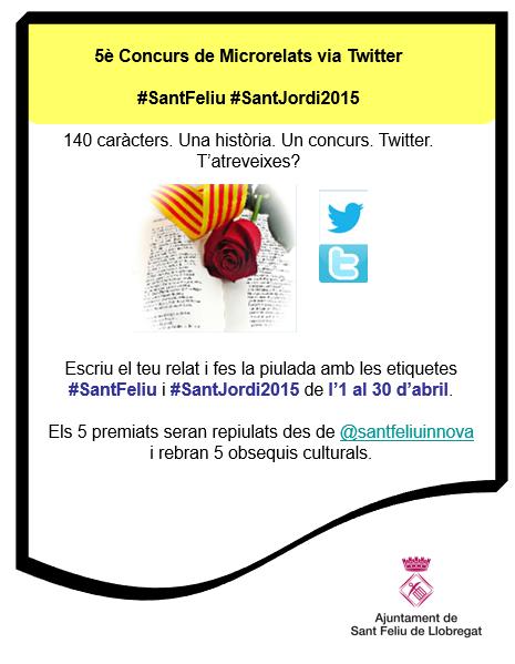 Cartell Concurs Sant Jordi microrelats via twitter